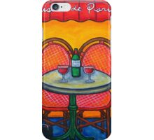 Table for Two in Paris iPhone Case/Skin