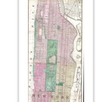 Vintage Map of New York City (1868) Sticker