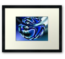 Blue Beans Framed Print