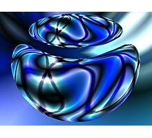 Blue Beans Photographic Print