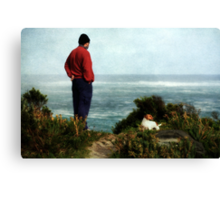 His love of the sea.... Canvas Print