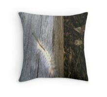 Hairy Caterpillar 2 Throw Pillow