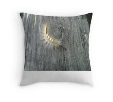 Hairy Caterpillar Throw Pillow
