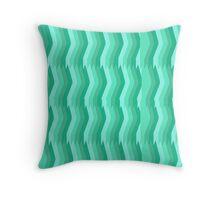 Tantalizing Teal Stripes Throw Pillow