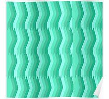 Tantalizing Teal Stripes Poster
