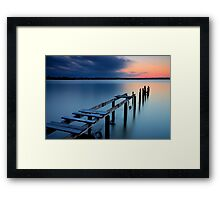 Deserted Sunset Framed Print