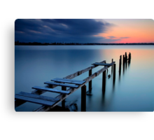 Deserted Sunset Canvas Print