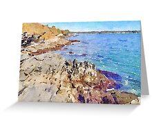 Rocky Sea Coast, Newport, RI Greeting Card