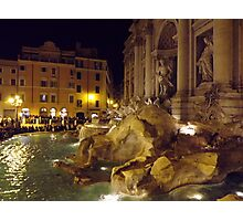 Trevi Fountain Rome Photographic Print