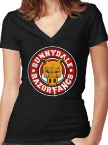 Sunnydale Razorfangs Women's Fitted V-Neck T-Shirt