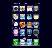 iPhone screen by NuclearJawa