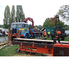 AEC Timber Tractor and Mobile Saw Bench Photographic Print