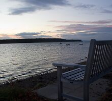 A bench by the sea by AlexanderFord