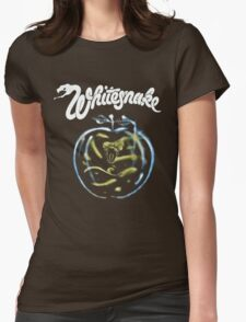 WHITE SNAKE Womens Fitted T-Shirt