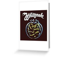 WHITE SNAKE Greeting Card