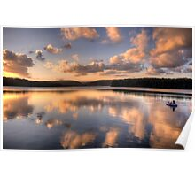Float Away Into The Sunset - Narrabeen Lakes, Sydney - The HDR Experience Poster