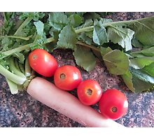 Radish and Tomatoes Photographic Print