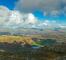 The English Lake District..Views From Wetherlam by Jamie  Green