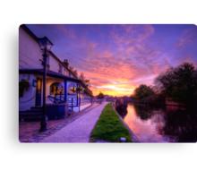 The Boat Inn Sunrise Canvas Print
