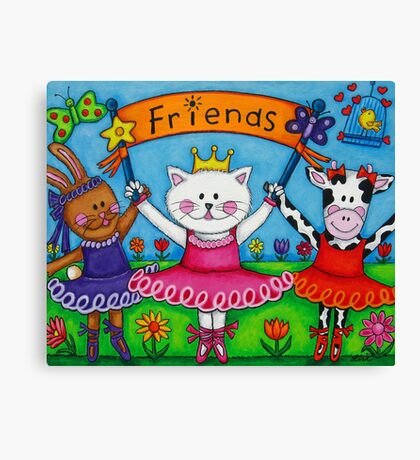Ballerina Friends Canvas Print