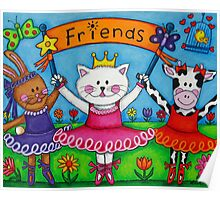 Ballerina Friends Poster