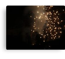 Diwali fireworks in a London suburb Canvas Print