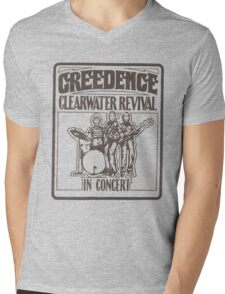 CLEARWATER Mens V-Neck T-Shirt
