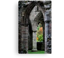 Autumn View - Tintern Abbey Canvas Print