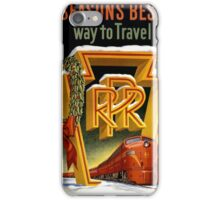 Season's Best Way to Travel Vintage Poster iPhone Case/Skin