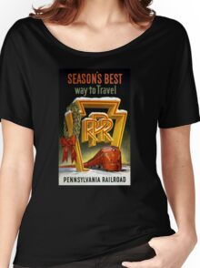 Season's Best Way to Travel Vintage Poster Women's Relaxed Fit T-Shirt