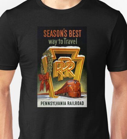 Season's Best Way to Travel Vintage Poster Unisex T-Shirt