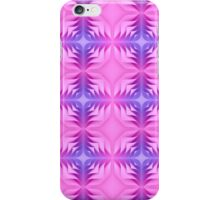 Curly Paper Pink Purple shades pattern iPhone Case/Skin