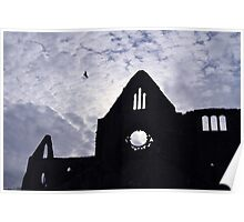 Tintern Abbey Silhouette  Poster