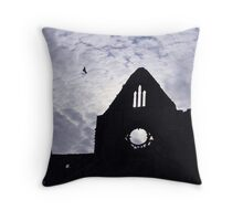Tintern Abbey Silhouette  Throw Pillow