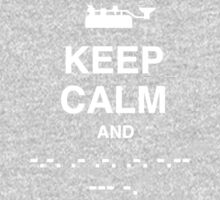 Keep Calm and Carry On - Morse Code T Shirt Kids Tee