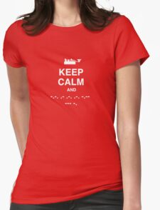 Keep Calm and Carry On - Morse Code T Shirt Womens Fitted T-Shirt