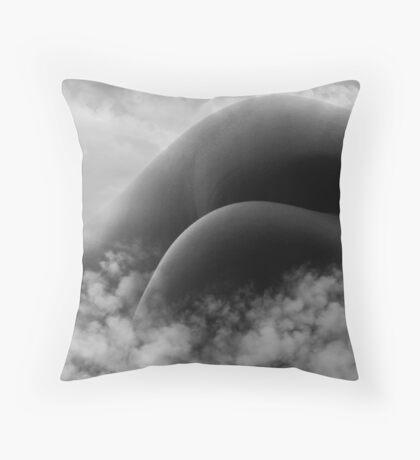 beyond the mountain Throw Pillow