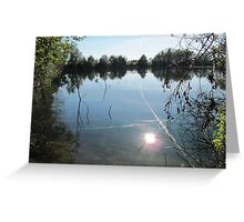 Sunlight in the water. Greeting Card