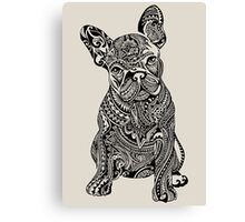 Polynesian French Bulldog Canvas Print