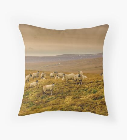 Winter on the Moors Throw Pillow