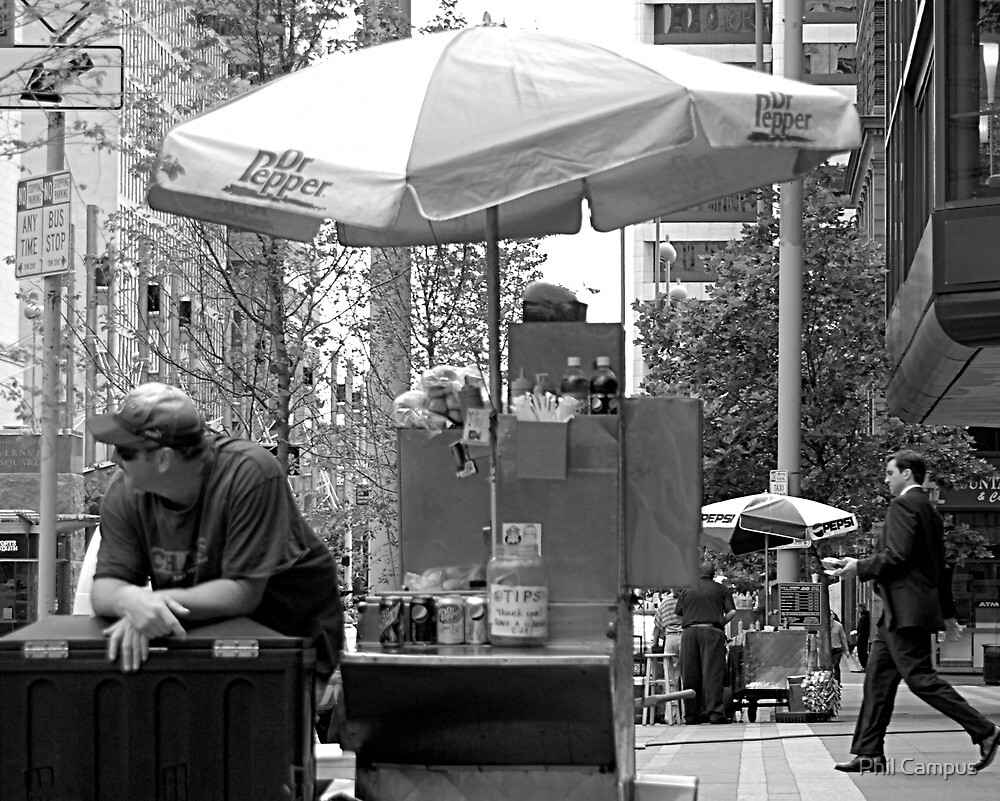 The Hot Dog Vendor by Phil Campus
