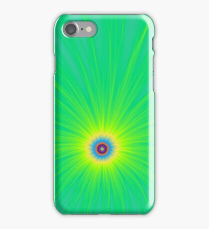 Colour Explosion on Green iPhone Case/Skin