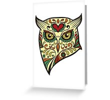 Calavera Owl Greeting Card