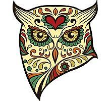 Calavera Owl Photographic Print