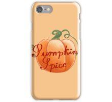 Pumpkin Spice iPhone Case/Skin