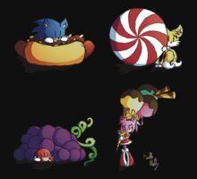 Sonic team + favorite foods One Piece - Short Sleeve