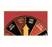 Scott Pilgrim's wheel of indecision Art Print