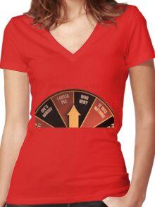Scott Pilgrim's wheel of indecision Women's Fitted V-Neck T-Shirt