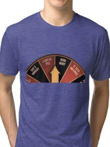 Scott Pilgrim's wheel of indecision Tri-blend T-Shirt