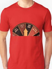 Scott Pilgrim's wheel of indecision Unisex T-Shirt